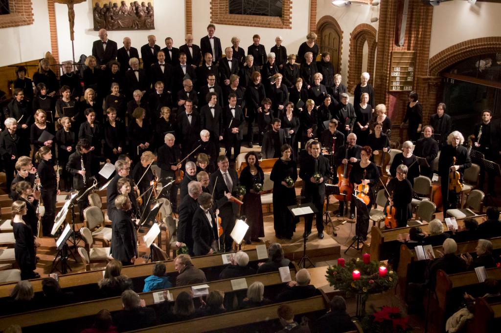 und während einer Aufführung des Weihnachtsoratoriums von J. S. Bach im Dezember 2013 - Foto: J. Kandziora